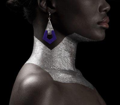 Boucle d' oreilles en cuir - Design Camille Roussel